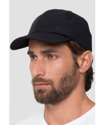 Adjustable men black cap - UPF50 - BONÉ PRETO - SOLAR PROTECTION UV.LINE