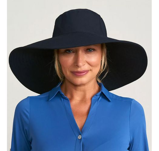 CHAPEU BEVERLY HILLS PRETO - SOLAR PROTECTION UV.LINE