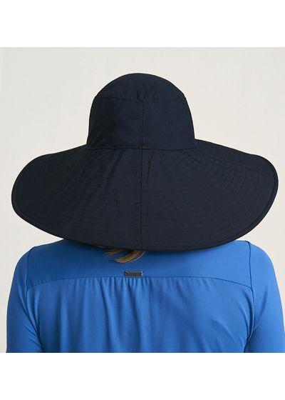 Big elastic beach hat - black - CHAPEU BEVERLY HILLS PRETO - SOLAR PROTECTION UV.LINE