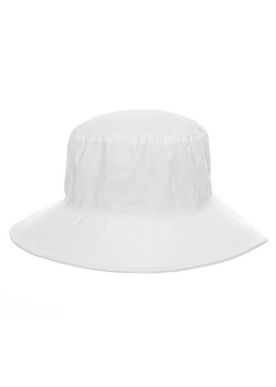 Hut, weiß geschmeidig, Pferdeschwanz-Öffnung - CHAPEU CALIFORNIA BRANCO - SOLAR PROTECTION UV.LINE