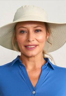 Chapéu de praia maleável, bege - CHAPEU LYON AREIA - SOLAR PROTECTION UV.LINE