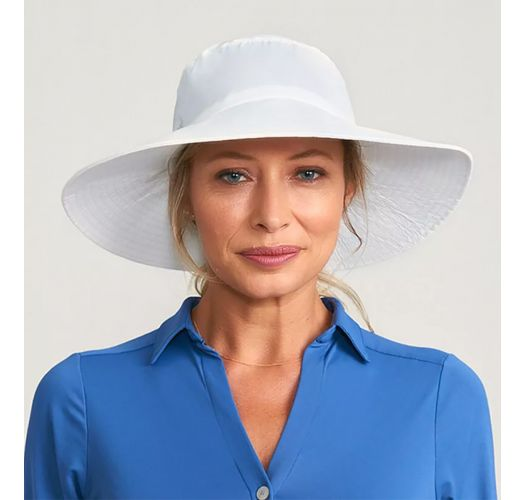 CHAPEU LYON BRANCO - SOLAR PROTECTION UV.LINE
