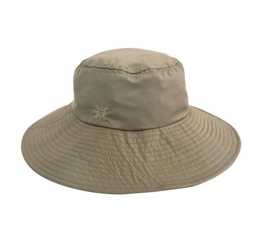 Шляпа с гибкими полями серовато-бежевого цвета- CHAPEU LYON KAKI - SOLAR PROTECTION UV.LINE
