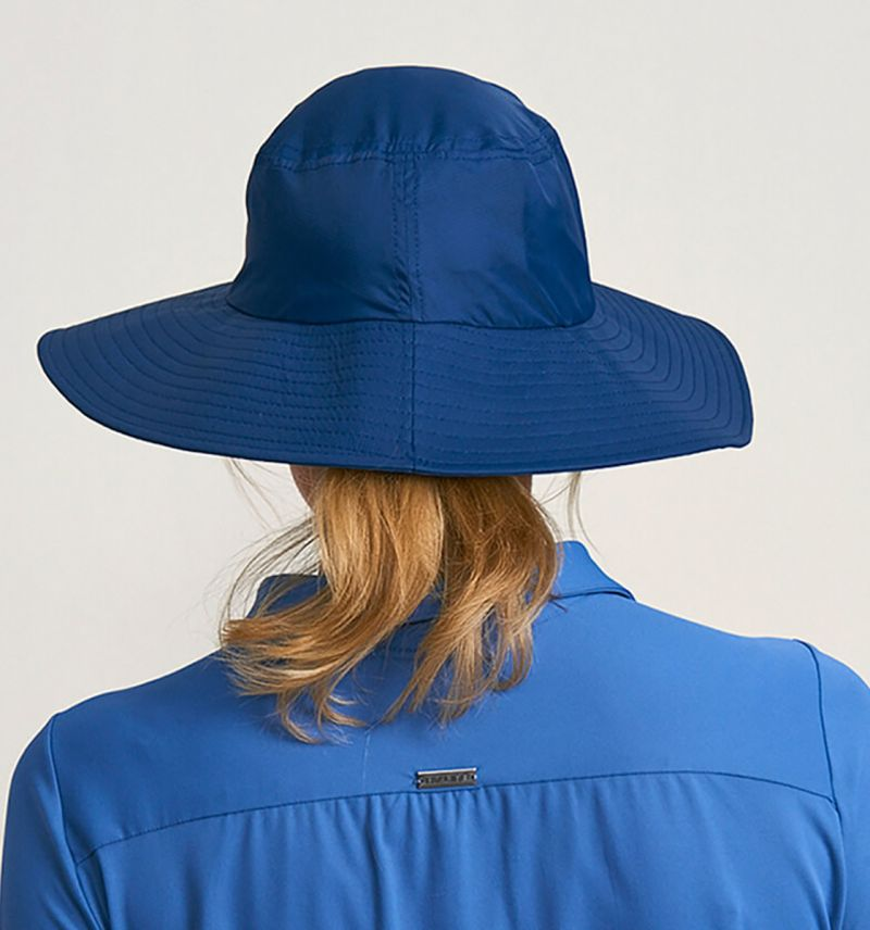Navy blue elastic beach hat - CHAPEU LYON MARINHO - SOLAR PROTECTION UV.LINE