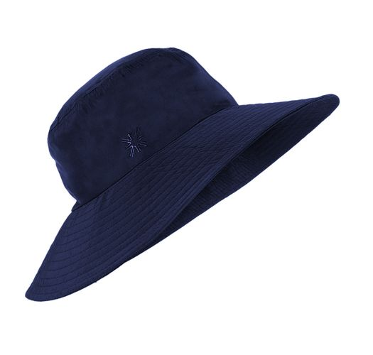 Navy blue elastic beach hat - CHAPEU LYON MARINHO - SOLAR PROTECTION UV.LINE
