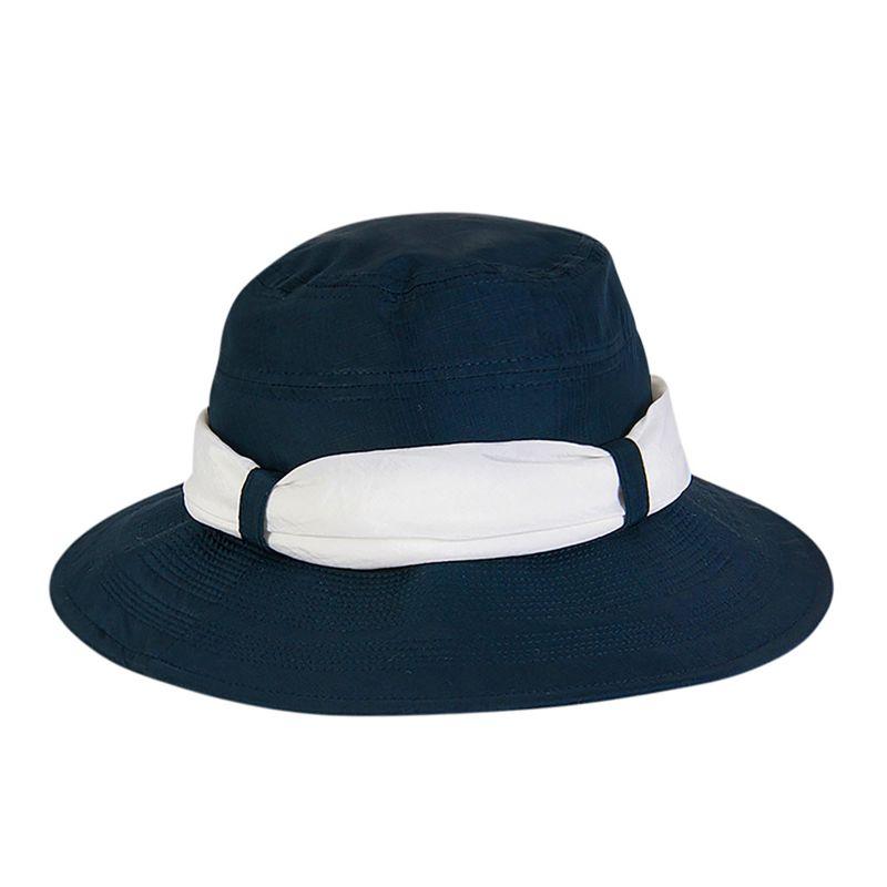 Blue beach hat with white bandana - CHAPEU PARIS VILLE AZUL/BRANCO - SOLAR PROTECTION UV.LINE