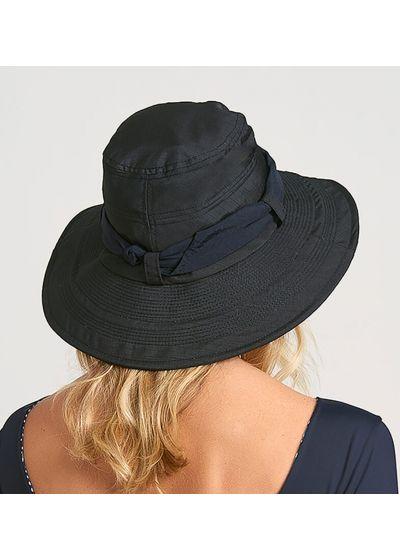 Black beach hat with bandana - CHAPEU PARIS VILLE PRETO - SOLAR PROTECTION UV.LINE