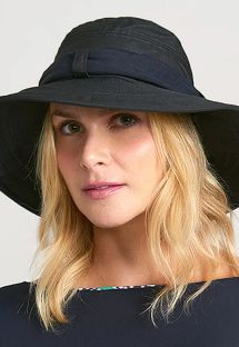 CHAPEU PARIS VILLE PRETO - SOLAR PROTECTION UV.LINE