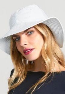 White hat with bandana tie - CHAPEU SAN REMO BRANCO - SOLAR PROTECTION UV.LINE