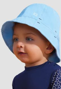 Blue soft hat for a little boy - UPF50 - CHAPÉU NAPOLI BASIC KIDS - AZUL - SOLAR PROTECTION UV.LINE
