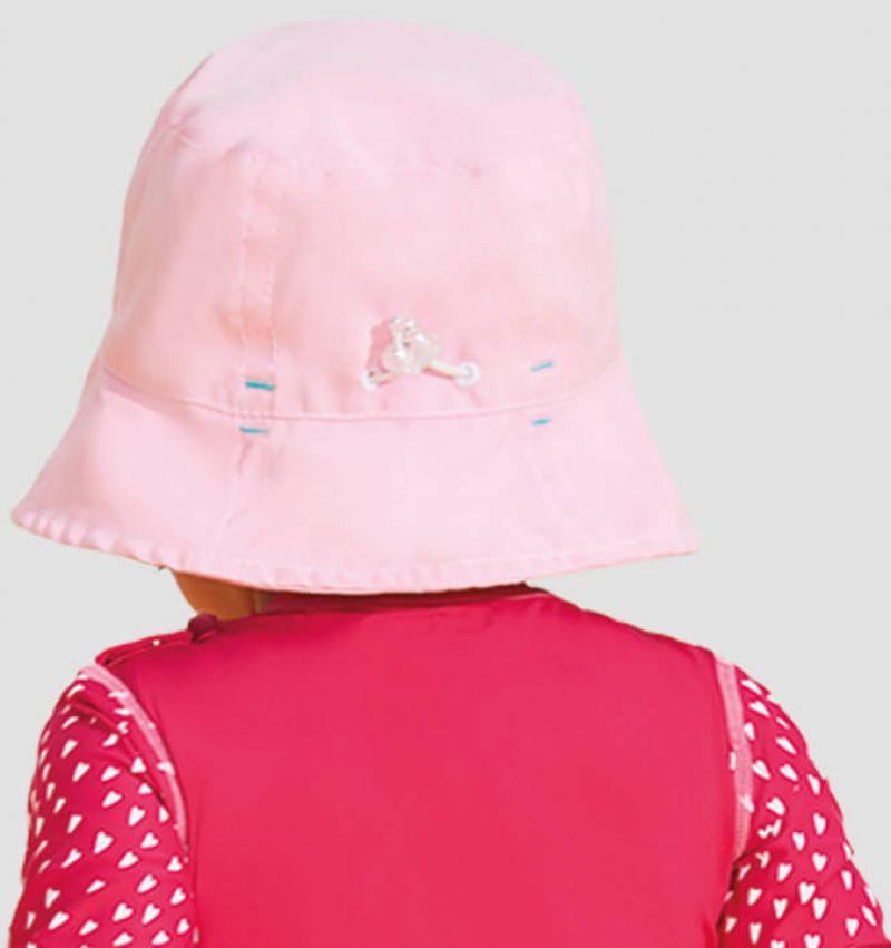 Pink soft hat for a little girl - UPF50 - CHAPÉU NAPOLI BASIC KIDS - ROSA - SOLAR PROTECTION UV.LINE