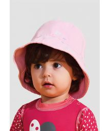 Rosa Hut geschmeidig, kleine Mädchen - UPF50 - CHAPÉU NAPOLI BASIC KIDS - ROSA - SOLAR PROTECTION UV.LINE