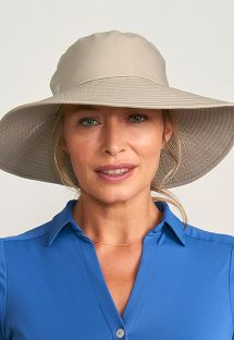 Beige hat velcro fastening - SAN DIEGO AREIA - SOLAR PROTECTION UV.LINE