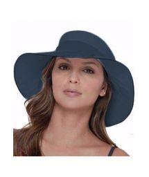 Marinblå hatt med breda kanter - SAN DIEGO MARINHO - SOLAR PROTECTION UV.LINE