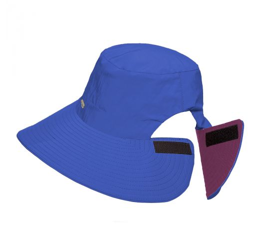 Reversible navy / pink hat velcro fastening - SAN DIEGO MARINHO/PINK - SOLAR PROTECTION UV.LINE