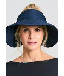Navy elastic visor hat - TOKYO MARINHO - SOLAR PROTECTION UV.LINE