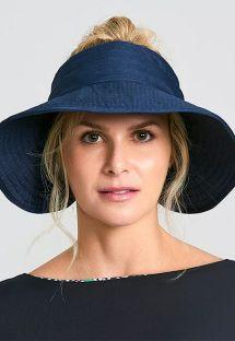 Мягкая шляпа-козырек темно-синего цвета - TOKYO MARINHO - SOLAR PROTECTION UV.LINE