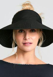 Chapéu-viseira maleável, preto - TOKYO PRETO - SOLAR PROTECTION UV.LINE