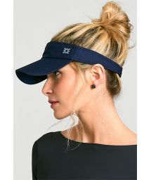 Sporty navy visor - VISEIRA ATHLETIC DRY MARINHO - SOLAR PROTECTION UV.LINE