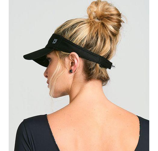 Sporty black visor - VISEIRA ATHLETIC DRY PRETO