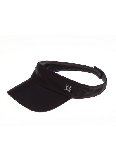 Sporty black visor - VISEIRA ATHLETIC DRY PRETO - SOLAR PROTECTION UV.LINE