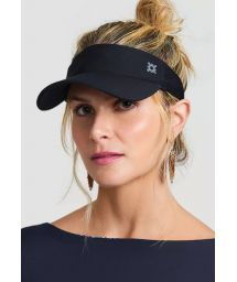 Sporty black visor - VISEIRA ATHLETIC DRY PRETO - SOLAR PROTECTION UV.LINE