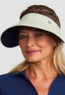 Reversible visor beige / black - VISEIRA BALI AREIA/PRETO - SOLAR PROTECTION UV.LINE