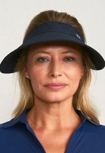 Adjustable black visor for women - VISEIRA BALI PRETO