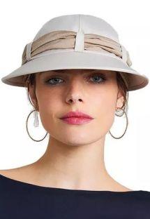 Women&#39s beige cap with khaki bandana - VISEIRA SAINT TROPEZ AREIA/KAKI
