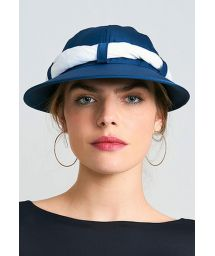 Women's navy cap with white bandana - VISEIRA SAINT TROPEZ MARINHO/BRANCO - SOLAR PROTECTION UV.LINE