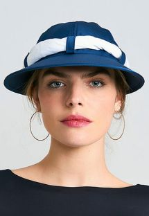 Women&#39s navy cap with white bandana - VISEIRA SAINT TROPEZ MARINHO/BRANCO - SOLAR PROTECTION UV.LINE