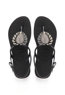 HAVAIANAS FREEDOM METAL PIN BLACK