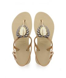 HAVAIANAS FREEDOM METAL PIN SAND GREY