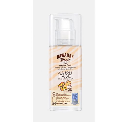 Moisturizing solar face mist SPF30 - HAWAIIAN TROPIC AIR SOFT FACE 30 SPF