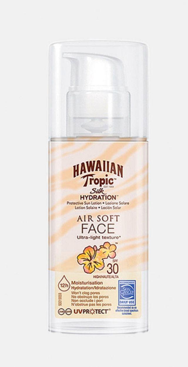 Moisturizing solar face mist SPF30 - HAWAIIAN TROPIC AIR SOFT FACE 30 SPF
