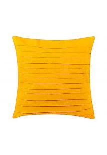 Home decor cushion - yellow - DRAPEADA EST AMARELA