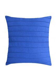 Home decor cushion - blue - DRAPEADA EST AZUL