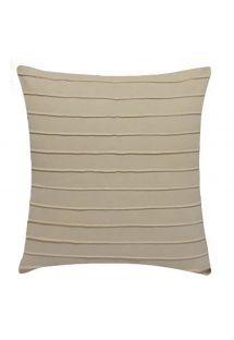 Home decor cushion - beige - DRAPEADA EST BEGE