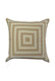 Beige geometric beige cotton cushion cover - GEOMETRIC CASAL BEGE