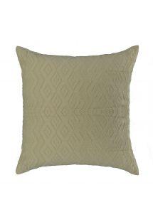 Natural 100% cotton & jacquard cushion cover with zipper - TAMBABA NATURAL