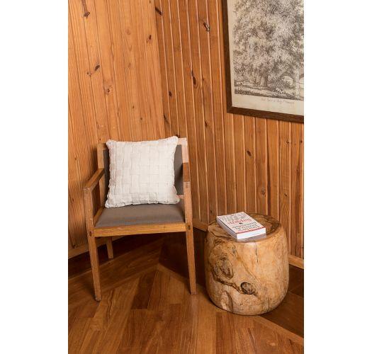 Ecru cushion cover 100% cotton braided - TRECE ORGANIC