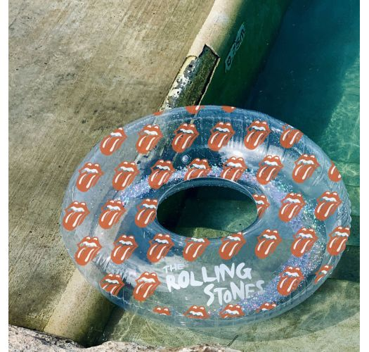 POOL RING ROLLING STONES LIPS GLITTER