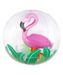 Inflatable ball with a pink flamingo inside - BALL 3D FLAMINGO