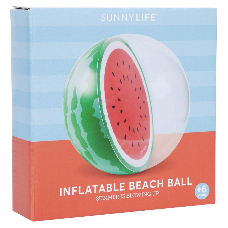 Inflatable ball in the shape of half a watermelon - BALL WATERMELON