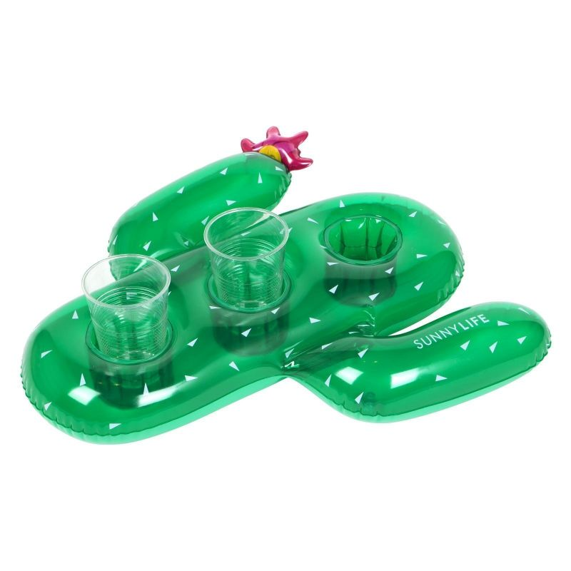 Inflatable drink holder - cactus - GROOVY CACTUS