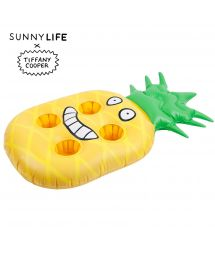 Inflatable pineapple-shaped tumbler holder x Tiffany Cooper - GROOVY PINEAPPLE TROPIC
