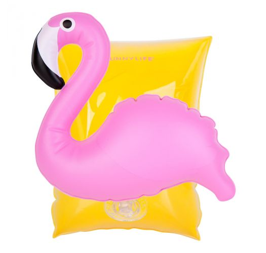 Children's pink flamingo armbands (max. 25kg) - INFLATABLE ARM BAND MINGO