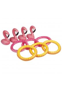 Rengaspeli vaaleanpunaisella flamingoilla - INFLATABLE GAME FLAMINGO
