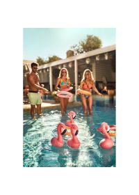 Ring set with little pink flamingos - INFLATABLE GAME FLAMINGO