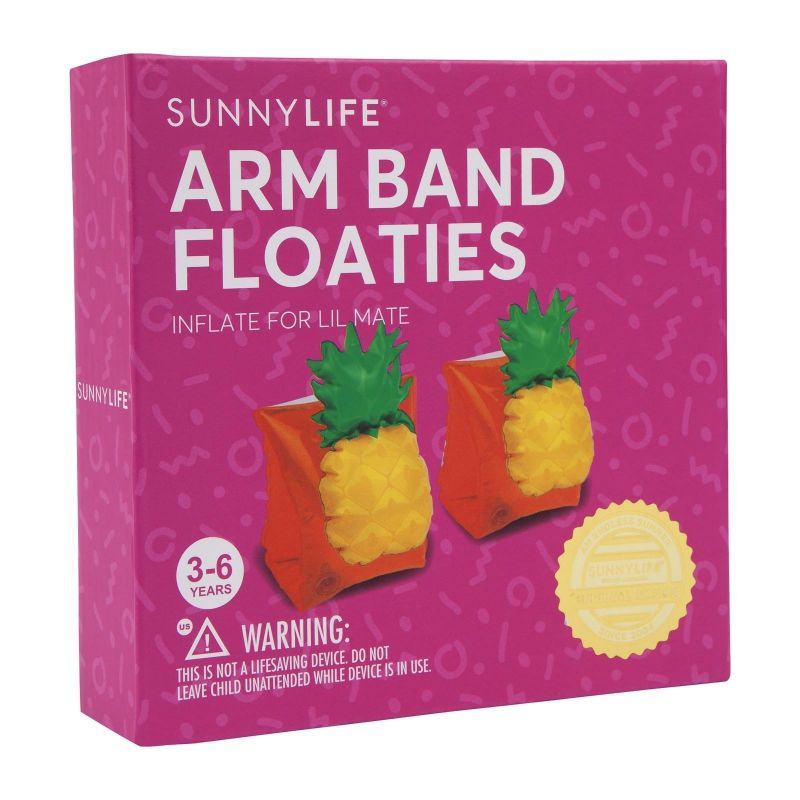 Inflatable swim arm bands ananas - 3-6 years - KIDS FLOAT BANDS PINEAPPLE